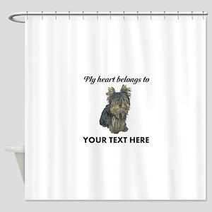 Custom Yorkshire Terrier Shower Curtain