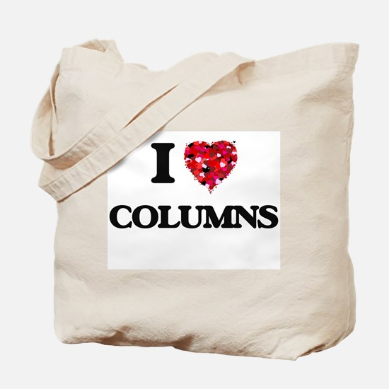 I love Columns Tote Bag