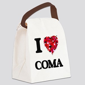 I love Coma Canvas Lunch Bag