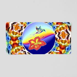 Peace hummingbird Aluminum License Plate