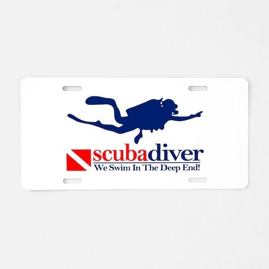 scubadiver Aluminum License Plate