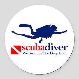 scubadiver Round Car Magnet