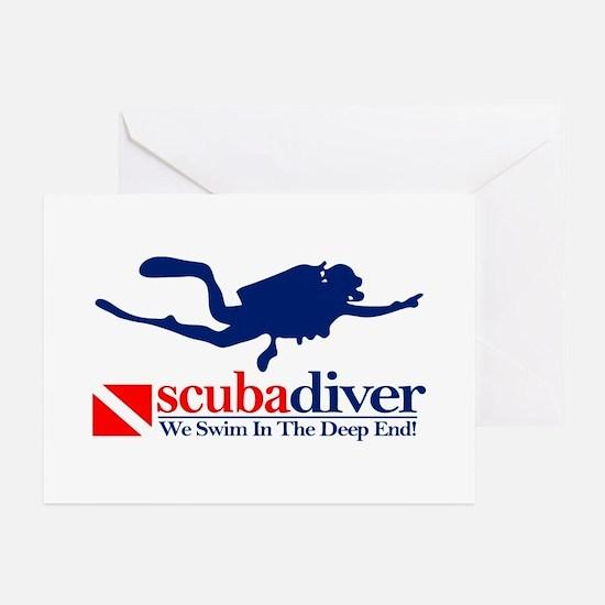 scubadiver Greeting Cards