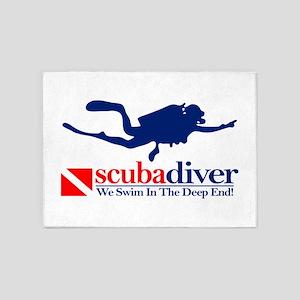 scubadiver 5'x7'Area Rug