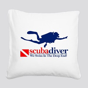 scubadiver Square Canvas Pillow