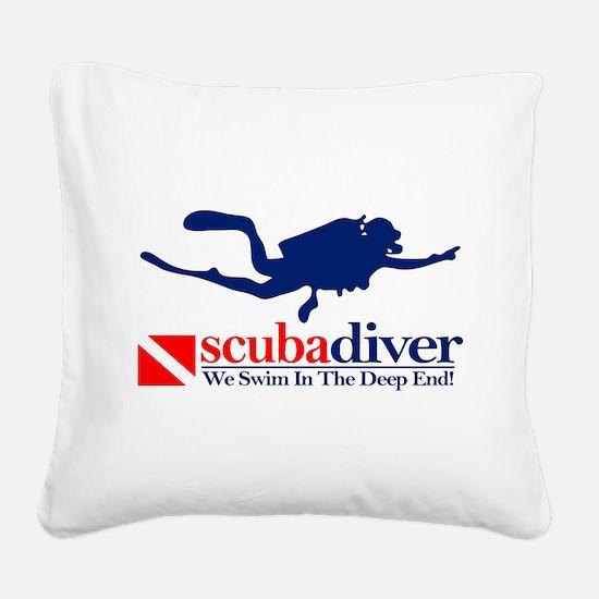 scubadiver Square Canvas Pillow