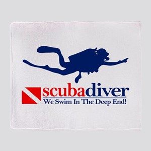 scubadiver Throw Blanket