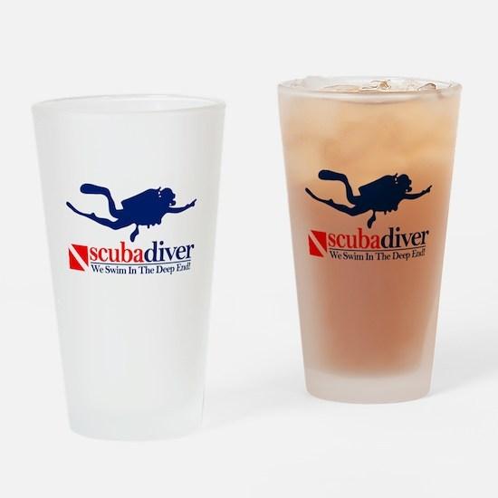 scubadiver Drinking Glass