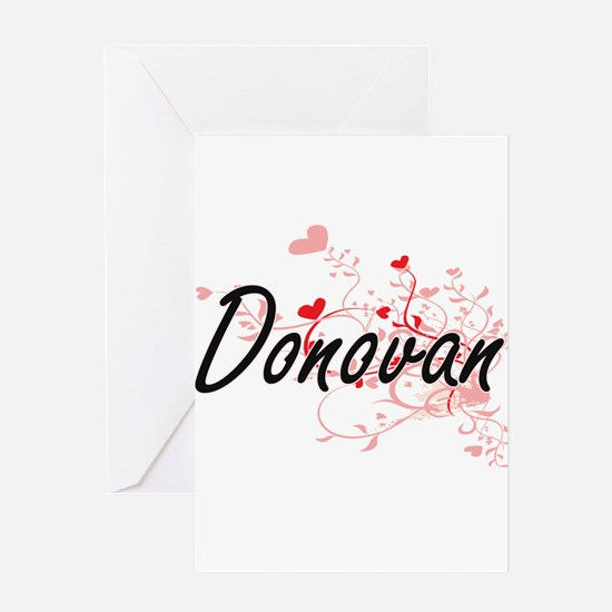 Donovan Artistic Design with Hearts Greeting Cards