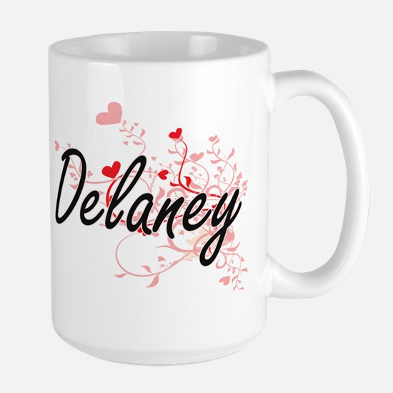 Delaney Artistic Design with Hearts Mugs