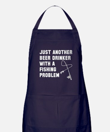 Beer drinker fishing problem Apron (dark)