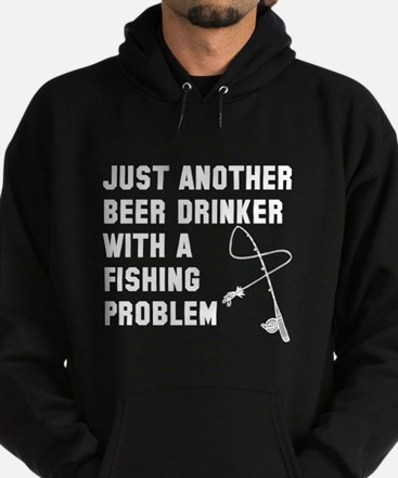 Beer drinker fishing problem Hoodie (dark)
