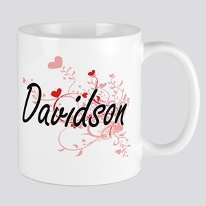 Davidson Artistic Design with Hearts Mugs