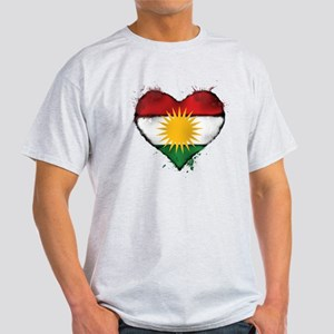 Kurdistan Heart Flag T-Shirt