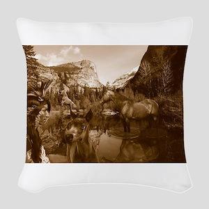 native american Woven Throw Pillow