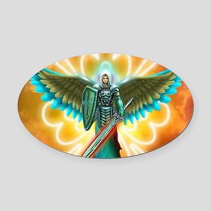 Angel Of God Oval Car Magnet