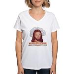 Who Would Jesus Bomb? Women's V-Neck T-Shirt