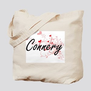 Connery Artistic Design with Hearts Tote Bag
