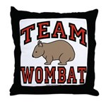 Team Wombat III Throw Pillow