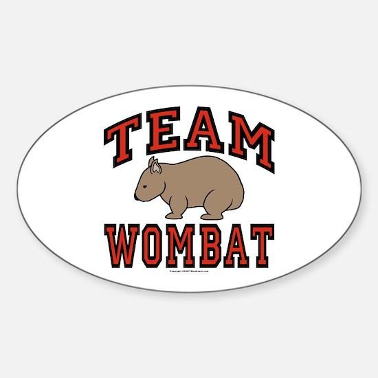 Team Wombat III Oval Decal