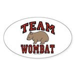 Team Wombat III Oval Sticker