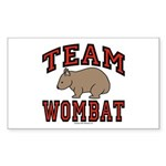 Team Wombat III Rectangle Sticker