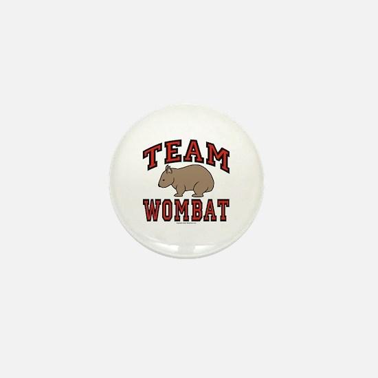 Team Wombat III Mini Button