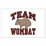 Team Wombat III Large Poster