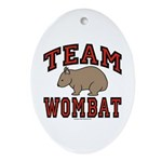 Team Wombat III Oval Ornament