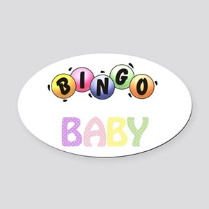 BINGO Baby! Oval Car Magnet