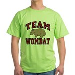 Team Wombat III Green T-Shirt