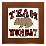 Team Wombat III Framed Tile
