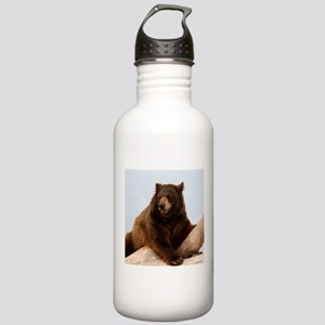 Bear on Log Photo Stainless Water Bottle 1.0L