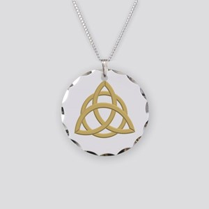 Triquetra, Charmed, Book of Necklace Circle Charm
