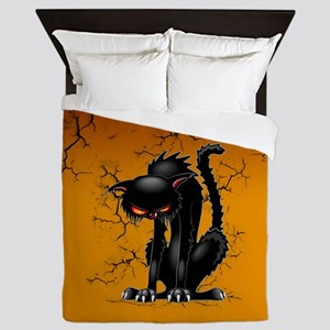 Black Cat Evil Angry Funny Character Queen Duvet