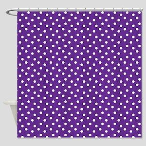 Purple Polka Dots Shower Curtain