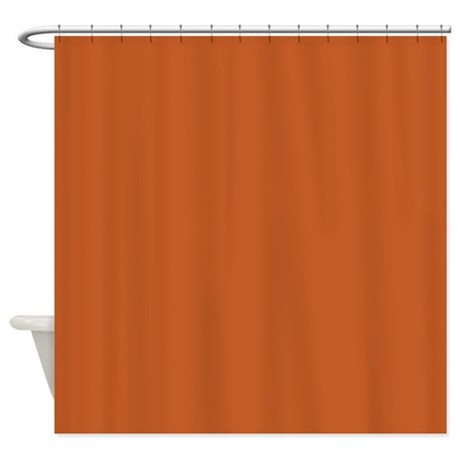 Ancient Burnt Orange Shower Curtain