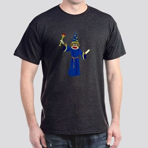 Sock Monkey Wizard Dark T-Shirt