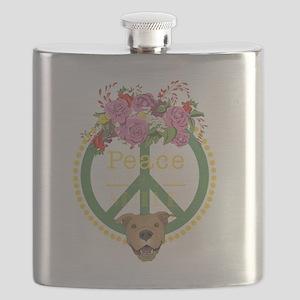 Peaceful Pitbull Flask