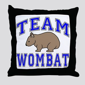 Team Wombat II Throw Pillow
