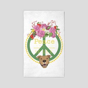 Peaceful Pitbull Area Rug