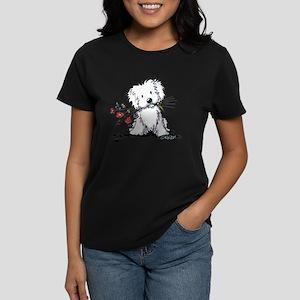 KiniArt Maltese Garden Helper Women's Dark T-Shirt