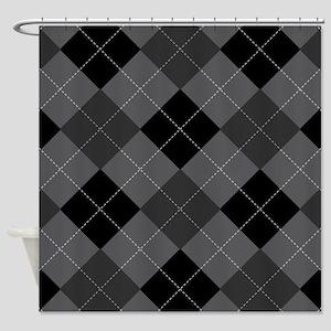 Charcoal Argyle Shower Curtain