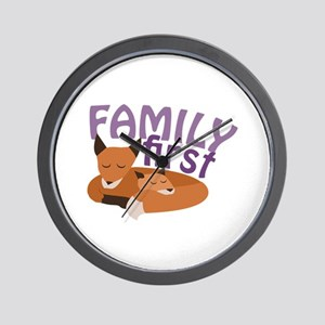 Family First Wall Clock