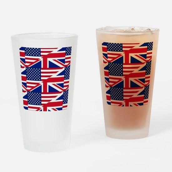 uk usa Drinking Glass