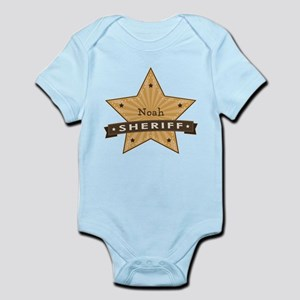 Personalizable Sheriff Star Infant Bodysuit