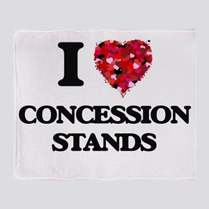 I love Concession Stands Throw Blanket