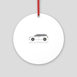 The Minivan Ornament (Round)