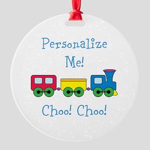 Choo Choo Train Round Ornament