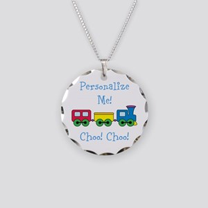 Choo Choo Train Necklace Circle Charm